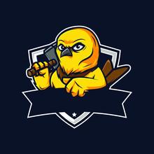 Professional Yellow Bird Logo Template
