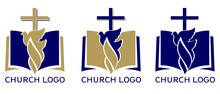 Church Logo Set, Symbol Of Chr...