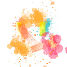 Colorful Watercolor Stains Spl...
