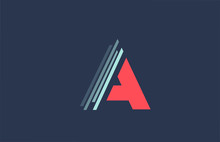 A Red Blue Alphabet Letter Logo Icon For Company And Business With Line Design