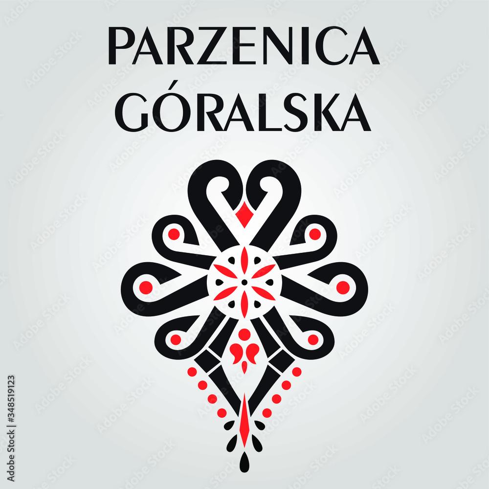 Fototapeta Polski wzór podhalański ozdobnik folklor Polish folk pattern - parzenica2
