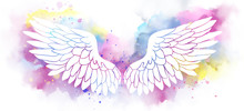 Beautiful Magic Angel White Wi...