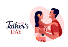 Happy Father's Day. Dad Hugs H...