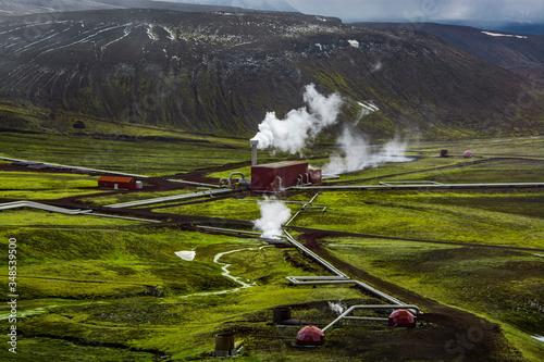 Krafla Power Plant in Iceland Fototapet
