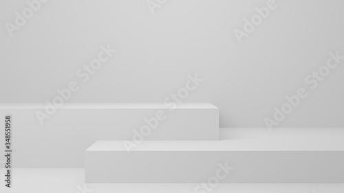 Leinwand Poster Empty studio product display white