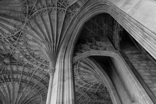 Low Angle View Of Ribbed Vault...
