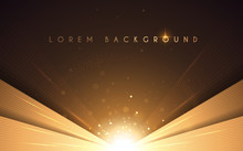 Abstract Luxury Gold Background With Light Effect