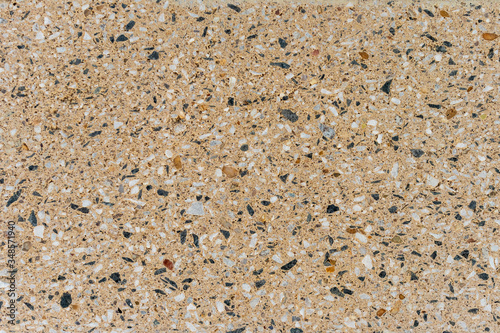 Aggregate Stone Wall background texture Canvas Print