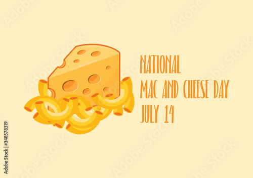 Fotografie, Obraz National Mac and Cheese Day vector