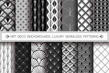 Art Deco Patterns Set. Vector ...