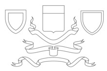 Set Of Coat Of Arms Crest Hera...