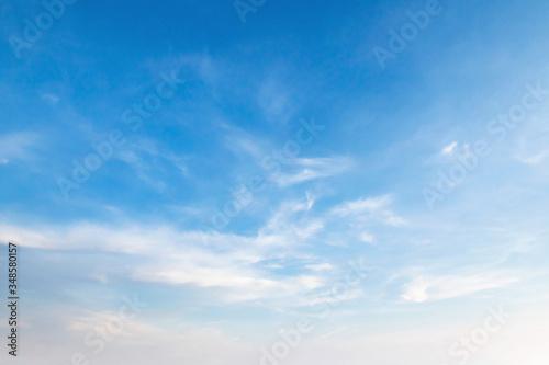 Obraz blue sky with white fluffy cloud, landscape background - fototapety do salonu