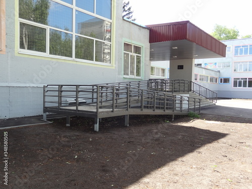 ramp for the disabled, ramp for the people with reduced mobility Fotobehang