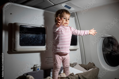 Photo violation of safety rules in an airplane