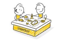 Strichfiguren / Strichmännchen: Strategy. (Nr. 511)
