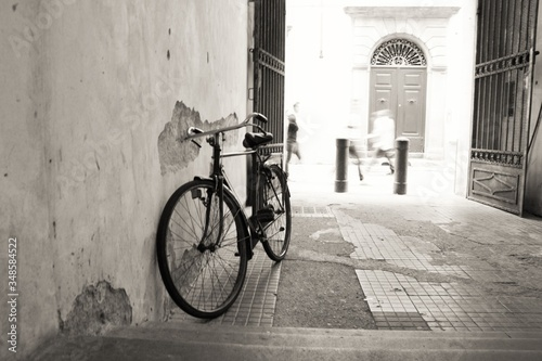 Bicycle Parked By Wall © roberto bosi/EyeEm