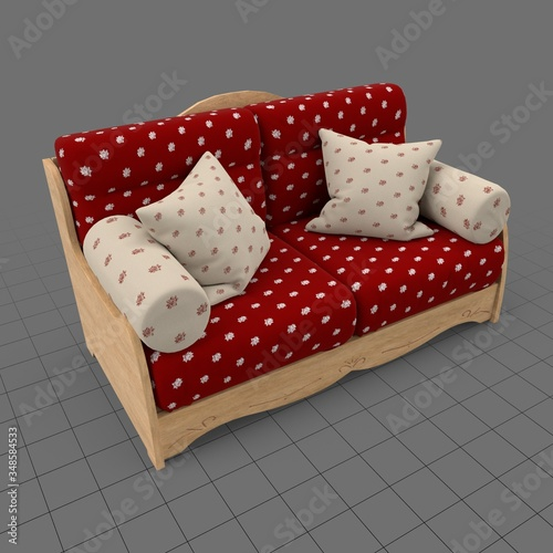 Obraz Country style sofa - fototapety do salonu