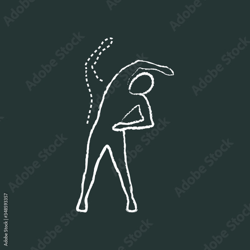 Foto trunk lateral flexion, chalk icon