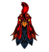 Rooster Esport Mascot Logo Des...