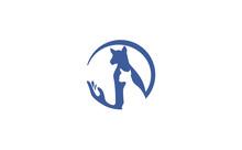 DogCat Pet Shop Vector Logo Te...