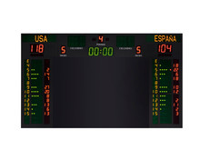 Electronic Scoreboard With Red...