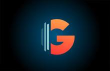 Orange Blue G Alphabet Letter ...