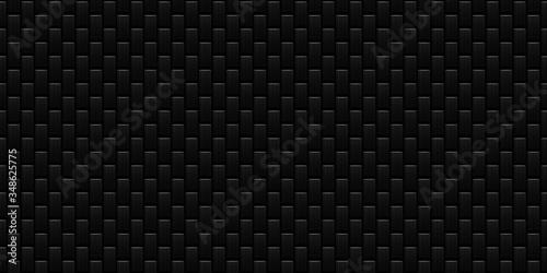 Dark black Geometric grid background Modern dark abstract texture Fototapet