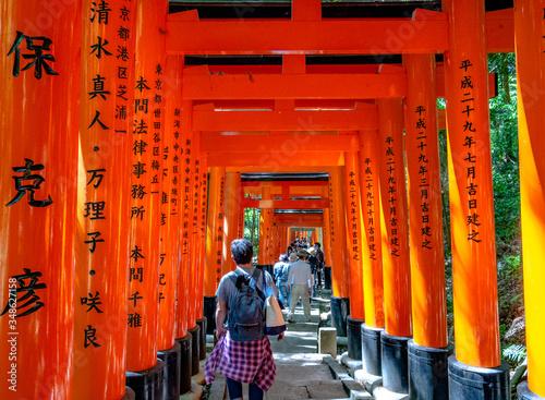 Kyoto, Japan - May 04 2019 : Scenery of the Fushimiinari taisha Shrine Wallpaper Mural