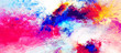 Bright artistic splashes. Abstract painting color texture. Modern futuristic pattern. Blue, pink and yellow dynamic background. Fractal artwork for creative graphic design