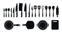Set Of Cutlery Icons. Vector.