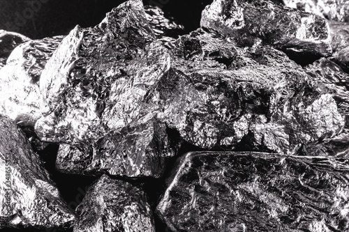 Platinum is a chemical element used in the chemical industry as a catalyst for the production of nitric acid, silicone and benzene Canvas Print
