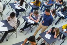 Teacher Supervising High Schoo...