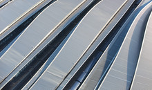 Corrugated Train Station Rooftops