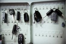 Keys On Hooks In Auto Repair S...