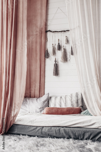 boho style interior of a bedroom