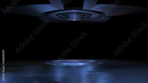 Fotografie, Obraz Magic fantasy portal futuristic teleport 3d rendering