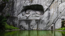 Lion Statue In A Cave