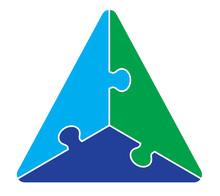 Three Part Triangle Puzzle Graphic
