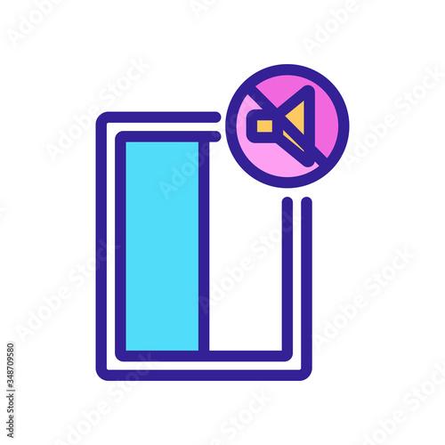 Vászonkép soundproof window icon vector