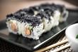 Sushi maki zuko maki with cooked salmon, cheese