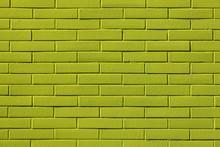 Full Frame Shot Of Green Brick Wall