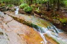 Cascades Falling From Cadillac Mountain To Eagle Lake, Mount Desert Island, Acadia National Park, Maine, USA