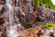 Waterfall Pouring Over Granite...