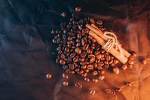 Coffee Beans Cinnamon Sticks. ...