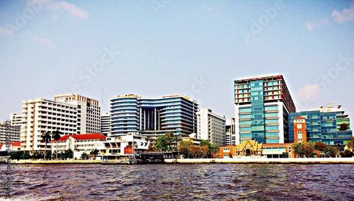 Obraz na plátně Waterfront Buildings
