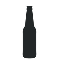 Glass Beer Bottle Icon Shape S...