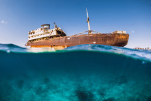 Telamon Wreck Ship In Blue Oce...