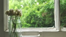 Close-up Of Flowers In Glass J...