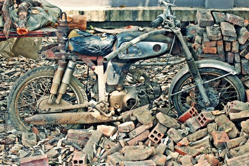 Fototapeta Old Rusty Motor Cycle