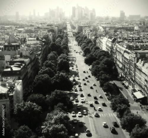 Fotografie, Obraz Elevated View Of Boulevard